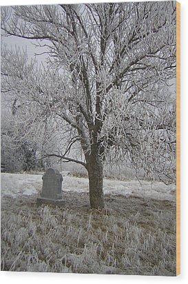 Under A Shade Tree Wood Print by Deena Keller