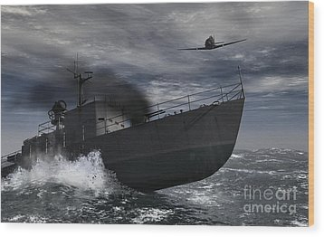 Under Attack Wood Print by Richard Rizzo
