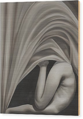 Under Cover Wood Print by Katherine Huck Fernie Howard