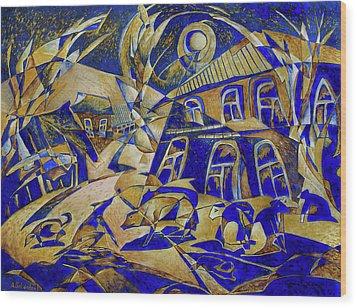 Under Gold Light Wood Print by Andrey Soldatenko