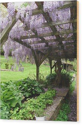 Under The Arbor  Wood Print
