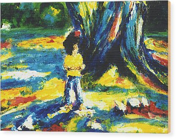 Under The Banyan Tree#201 Wood Print by Donald k Hall
