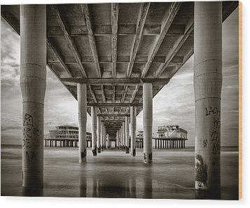 Under The Boardwalk Wood Print by Dave Bowman