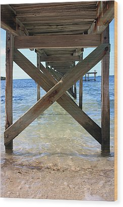 Under The Boardwalk Wood Print by Mary Haber