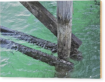 Under The Boardwalk Wood Print by Stephen Mitchell