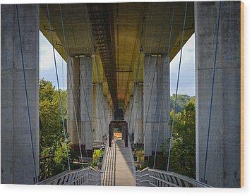 Under The Bridge Wood Print