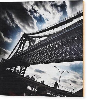 Under The Bridge Wood Print by Christopher Leon