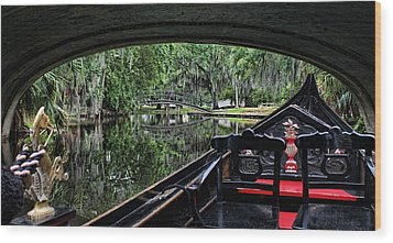 Under The Bridge Wood Print by Judy Vincent