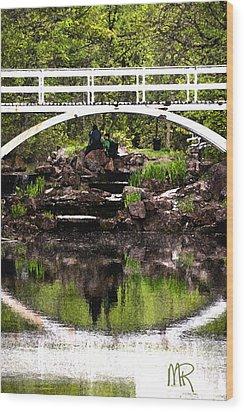 Under The Bridge Wood Print by Martin Rochefort
