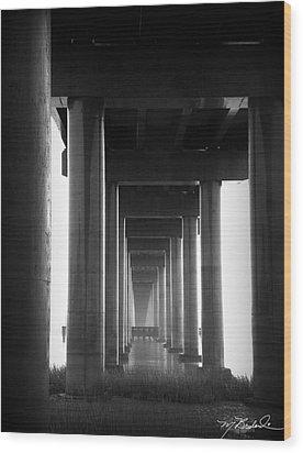 Under The Bridge Wood Print by Melissa Wyatt