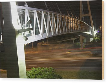 Wood Print featuring the photograph Under The Bridge by Michael Albright