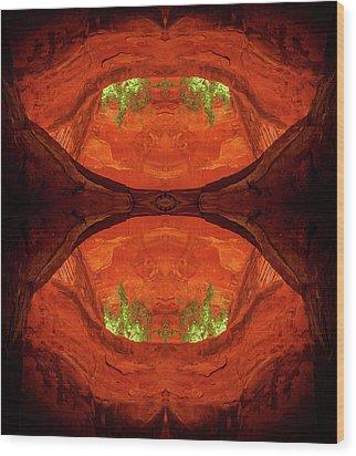 Under The Bridge Wood Print by Scott McAllister