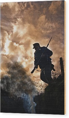 Under The Burning Sky Wood Print by Mark H Roberts