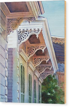 Under The Eaves Wood Print by Sue Zimmermann