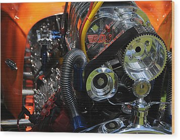 Wood Print featuring the photograph Under The Hood by Mike Martin