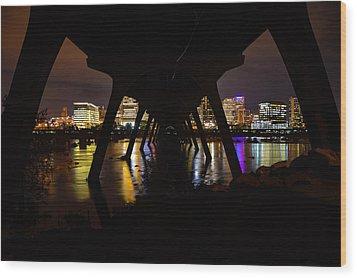 Under The Manchester Bridge Wood Print