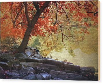 Wood Print featuring the photograph Under The Maple by Jessica Jenney