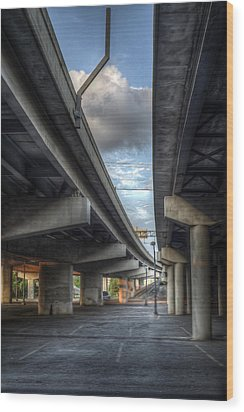 Under The Overpass II Wood Print