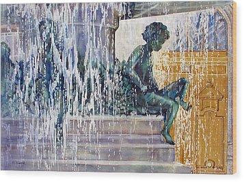 Under-the-parisian-sun Wood Print by Nancy Newman