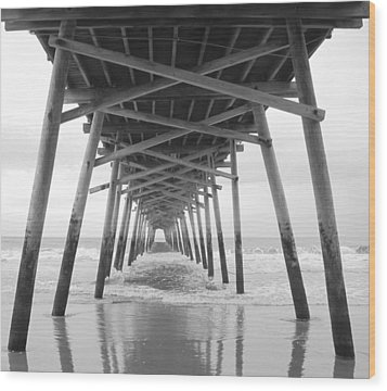 Under The Pier Wood Print