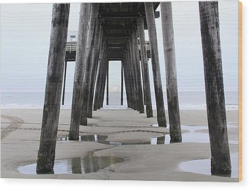 Under The Pier Wood Print by Sharon Batdorf
