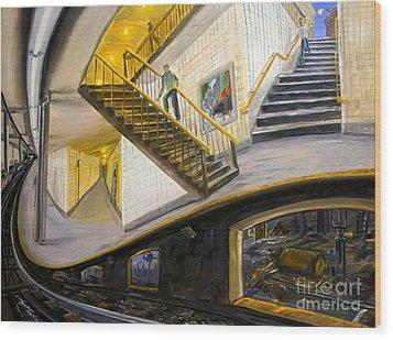 Under The Platform Wood Print by Arthur Robins