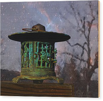 Under The Stars Wood Print by Susan Vineyard