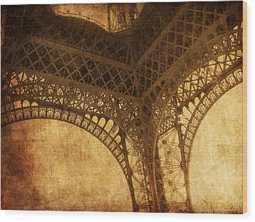 Under Tower Wood Print by Andrew Paranavitana