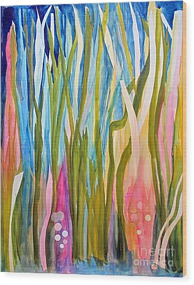 Wood Print featuring the painting Under Water by Sandy McIntire