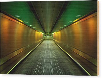 Underground Heathrow Wood Print by Svetlana Sewell
