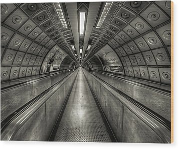 Underground Tunnel Wood Print by Vulture Labs