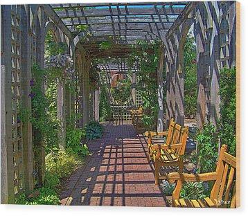 Underneath The Arbor Wood Print
