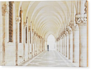 Underneath The Arches Wood Print by Marion Galt