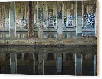 Underpass Wood Print