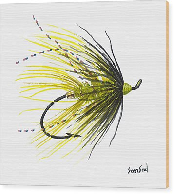 Undertaker Chartreuse Wood Print