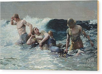 Undertow Wood Print by Winslow Homer