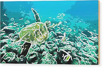 Underwater Landscape 1 Wood Print by Lanjee Chee