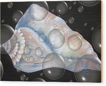 Underwater Life Wood Print by Penny Everhart
