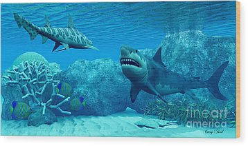 Underwater World Wood Print by Corey Ford