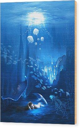 Underwater World Wood Print by Svetlana Sewell