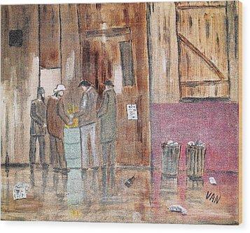 Unemployment Wood Print by Van Winslow