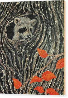 Unexpected Visitor Wood Print
