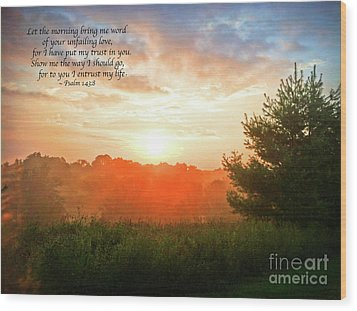 Wood Print featuring the photograph Unfailing Love by Kerri Farley