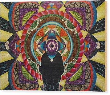 Unfolding Spirit Wood Print by Matthew Fredricey