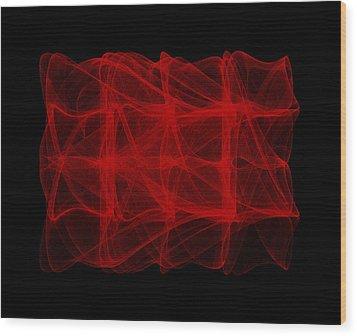 Unfolds Imperfect  I Wood Print by Robert Krawczyk