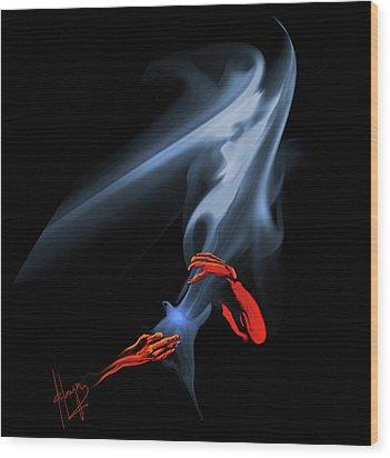 Unholy Smoke Wood Print by DC Langer