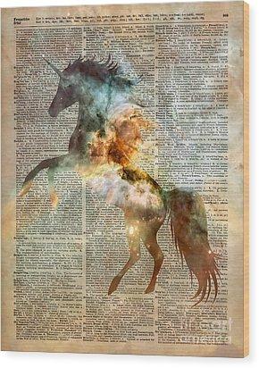 Unicorn Carina Nebula Wood Print by Jacob Kuch
