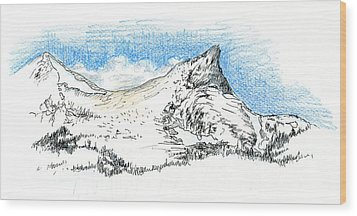 Unicorn Peak In September Wood Print by Logan Parsons