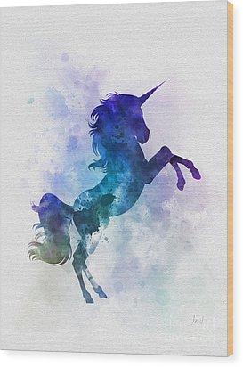 Unicorn Wood Print by Rebecca Jenkins