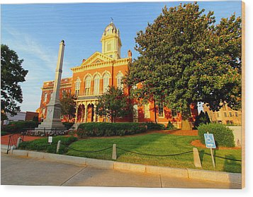 Union County Court House 10 Wood Print